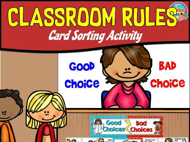 Positive and Negative Behaviour Cards Sorting Activity and Poster