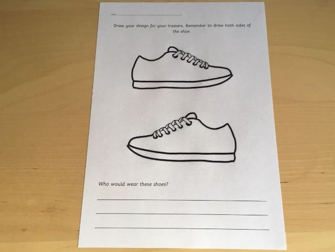 Shoe Design Challenge Sheet