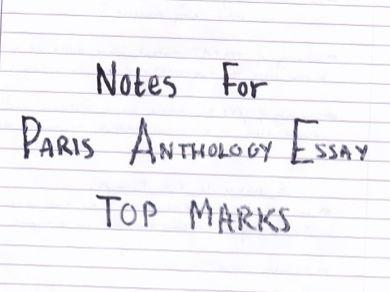 Paris Anthology TOP MARKS notes