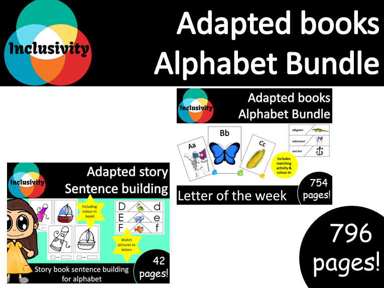 Alphabet books bundle, letter of the week book and alphabet book