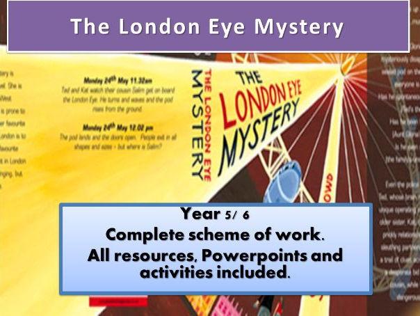 The London Eye Mystery  Upper KS2 Scheme of work.