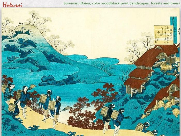 HOKUSAI Katsushika Hokusai Art JAPAN woodblock color print - 252 Slides