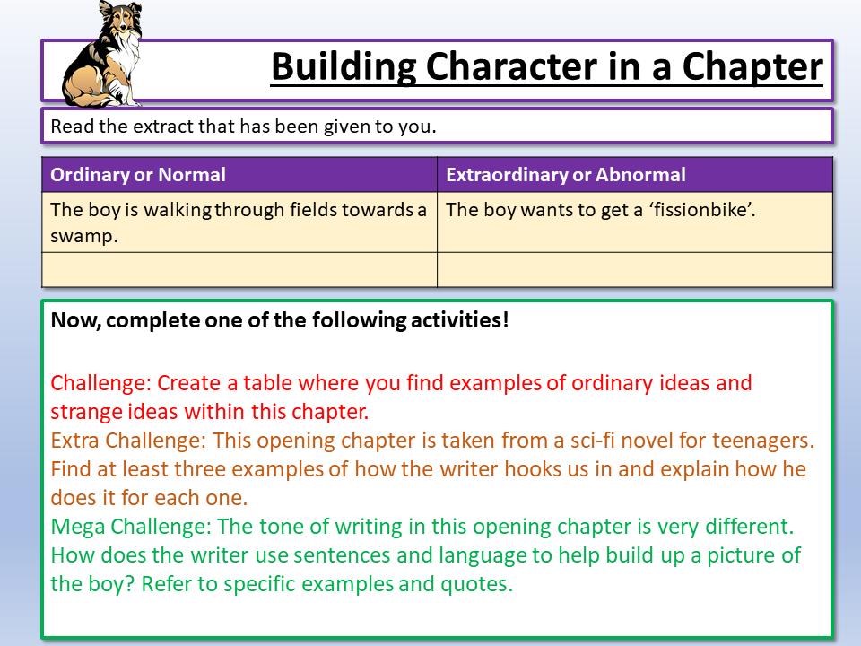AQA Language Paper 1 Character and Language