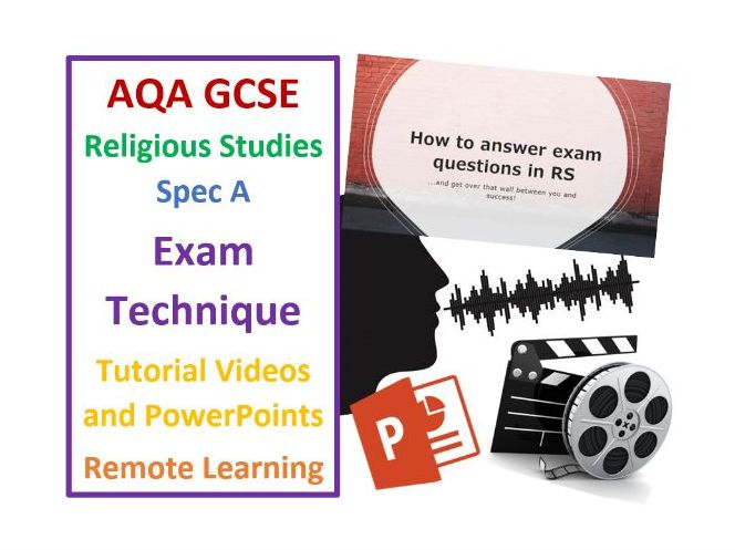 AQA GCSE Religious Studies Exam Technique Videos and PowerPoints