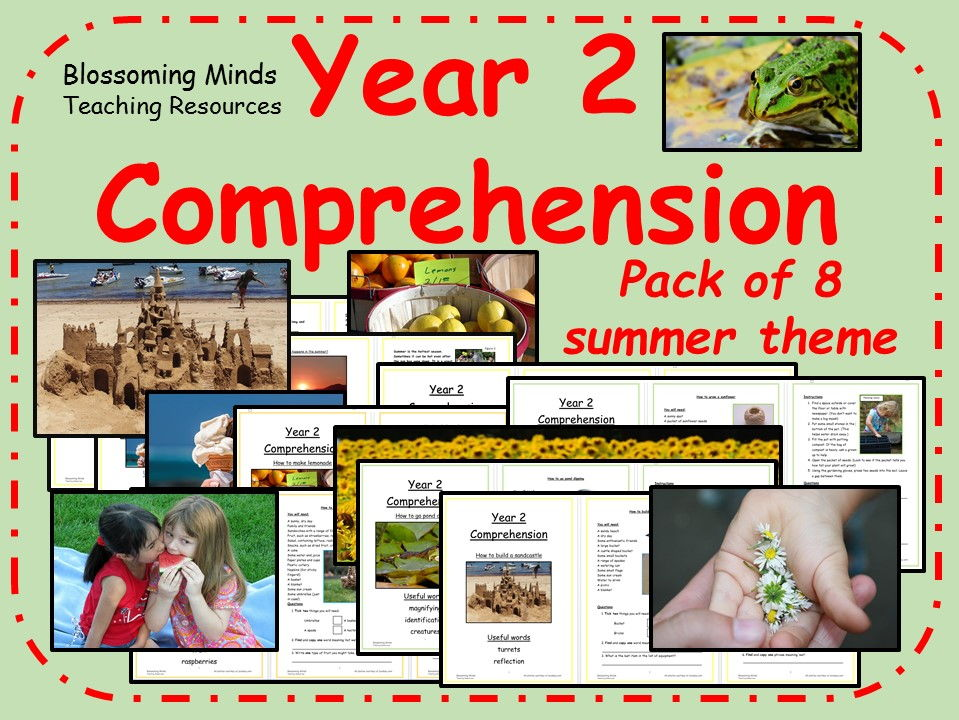 Summer-themed KS1 comprehension pack