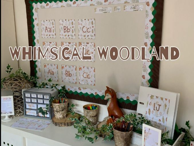 Classroom Display Set Whimsical Woodland