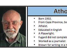 Athol Fugard - Handout / Revision Guide