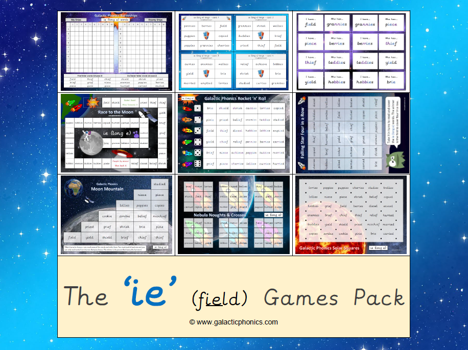 The 'ie' (as in field) Games Pack