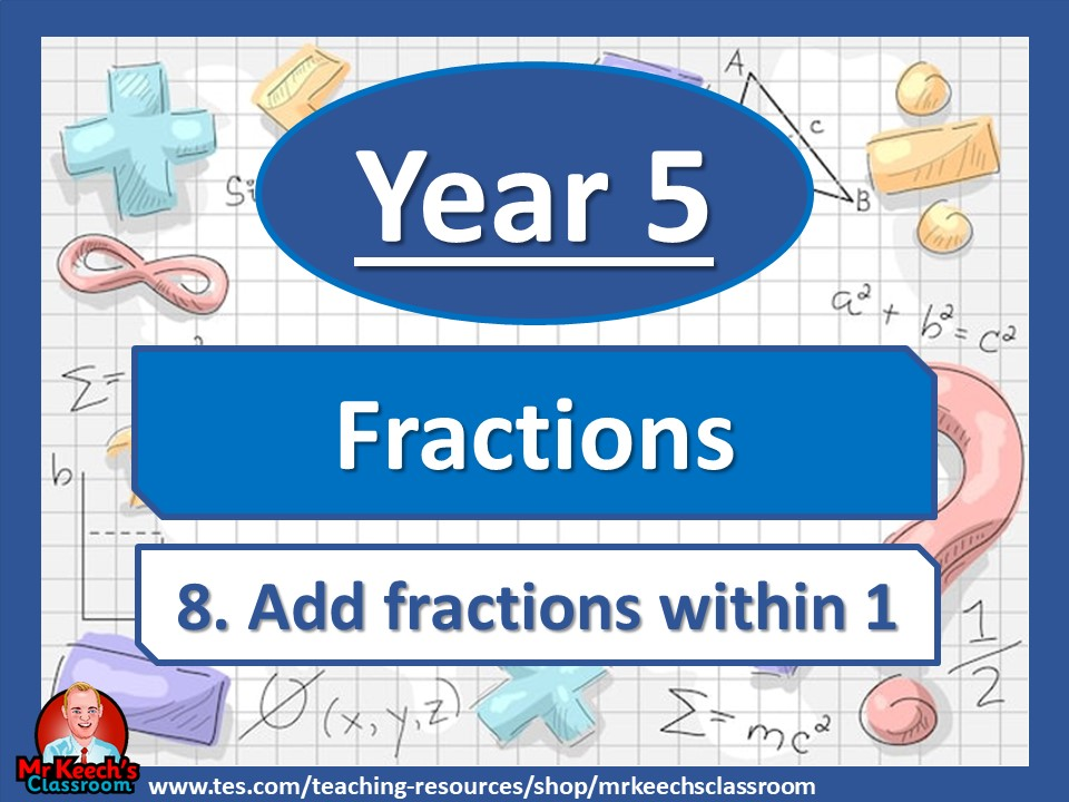 Year 5 – Fractions – Add Fractions Within 1- White Rose Maths