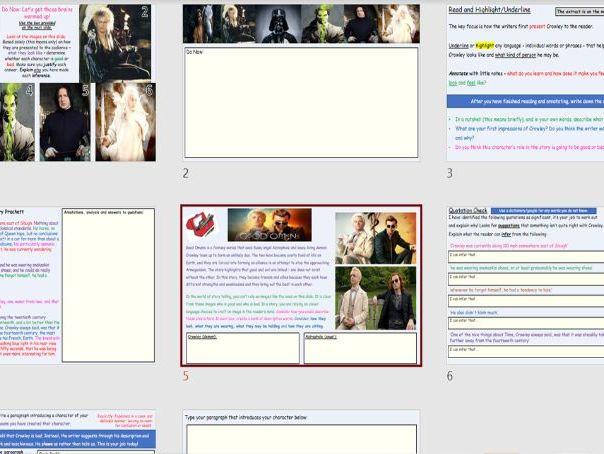 KS3 English Individual Lesson: The Da Vinci Code (home/remote/virtual/classroom/cover friendly)