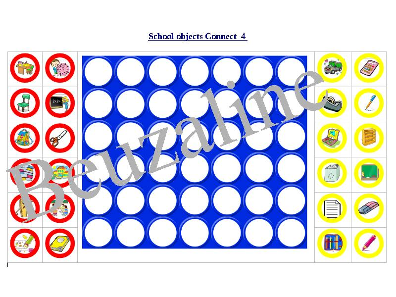 Connect 4 game French School Objects