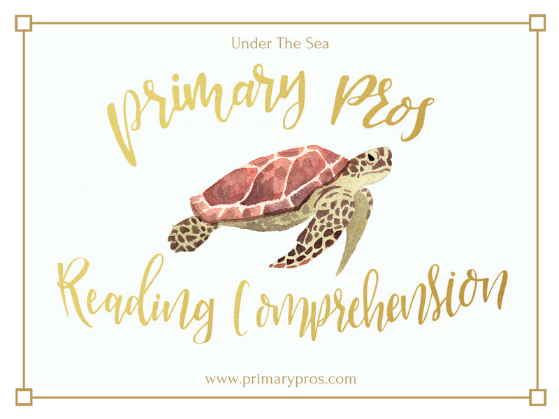 Year 3 & 4 Reading Comprehension - Under The Sea