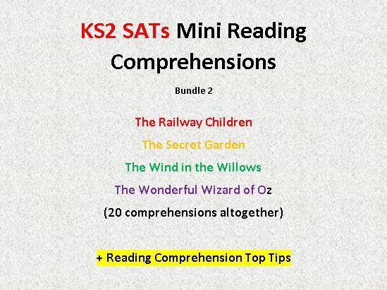 Mini Reading Comprehensions Bundle 2 with Questions Similar to 2016 KS2 SATs