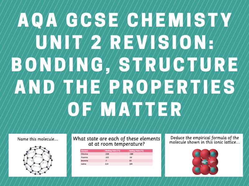 AQA GCSE Chemistry Unit 2 Revision