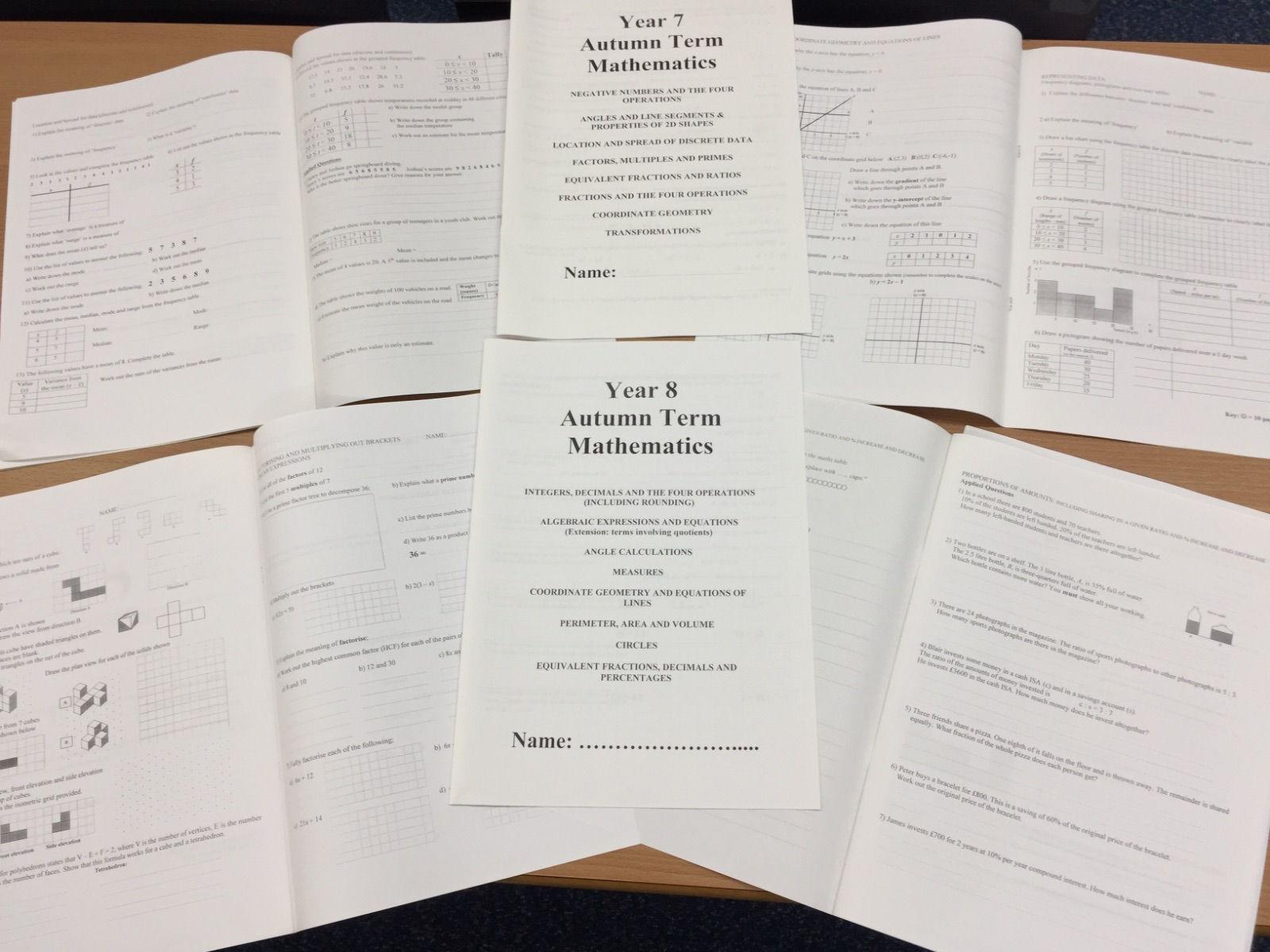Key Stage 3 Maths practice bundle
