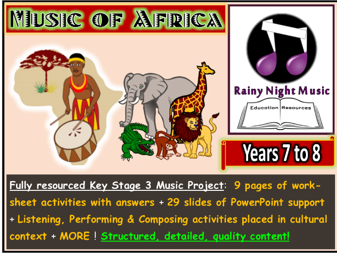AFRICAN MUSIC PROJECT Year 7 and Year 8