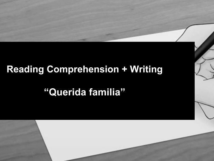 Reading Comprehension + Writing task
