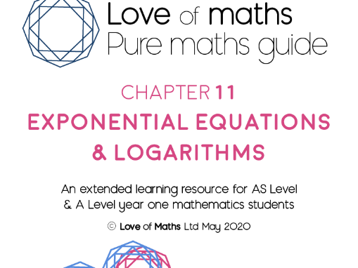 Pure Maths Guide Exponential Equations & Logarithms chapter from Love of Maths