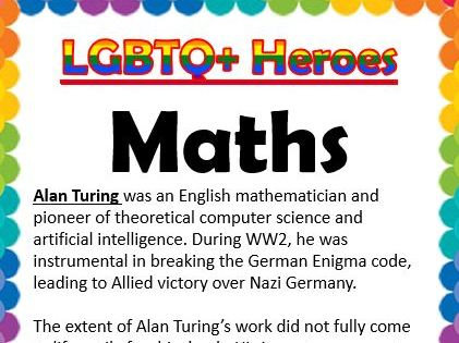 LGBTQ Heroes Collection- Maths