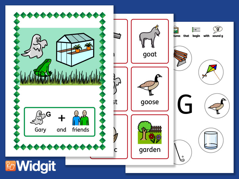 "Sound Stories ""G"" and ""K"" - Pack with Widgit Symbols"