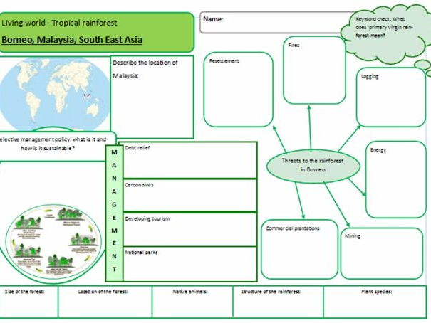 Ecosystems and living world case study revision sheets - AQA and EdExcel