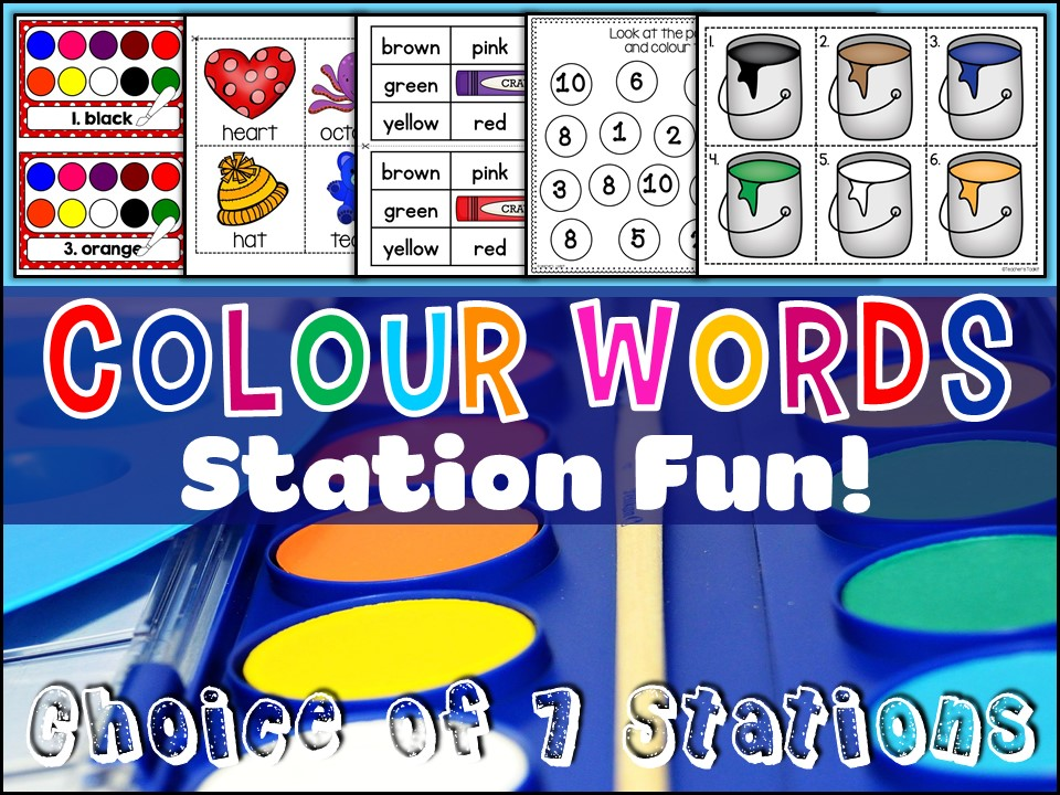 Vocabulary: Colour Words Station Fun