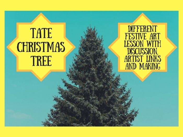 Contemporary Art Christmas Tree Design & Maquette - group work