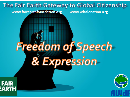 Freedom of Speech - Fair Earth Resources
