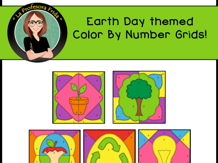 Spanish Earth Day, El Día de la Tierra Mystery Pictures! Color By Number