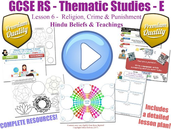 GCSE Hinduism - Religion, Crime & Punishment - Unit Overview (Religious Studies - L6/7)
