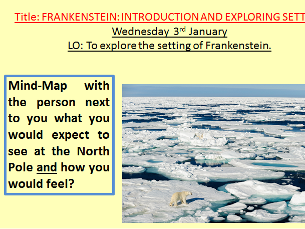 Frankenstein novel - Full Powerpoint of lessons