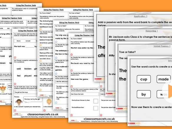 Grammar Year 6 Using the Passive Verb Spring Block 2 Step 3 Lesson Pack