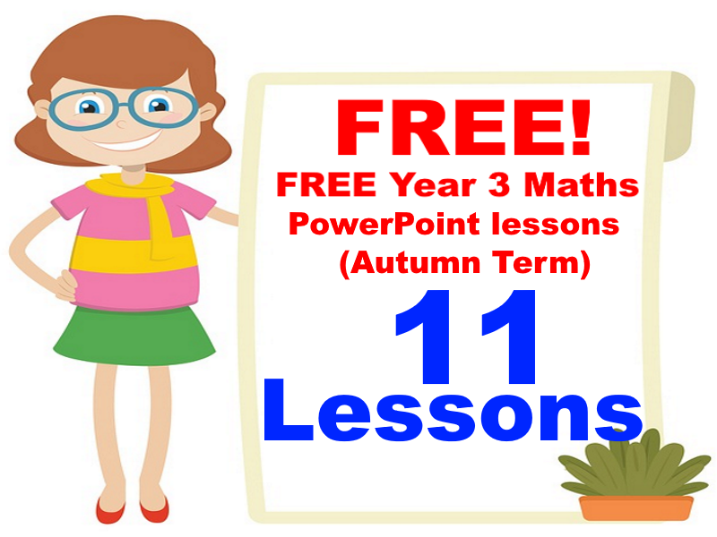 FREE Year 3 Maths PowerPoint lessons (Autumn Term)