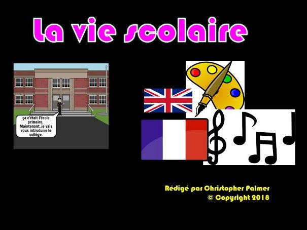 French: General school life in France (Key Stage 3 level)