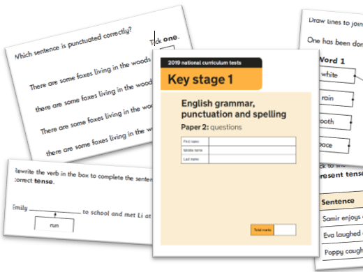 KS1 Grammar and Punctuation Question Level Analysis Tool - 2019