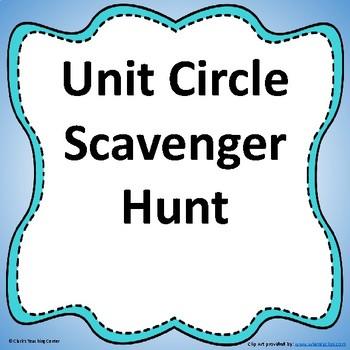 Unit Circle Values Scavenger Hunt (CCSS.HSF.TF.A.3)