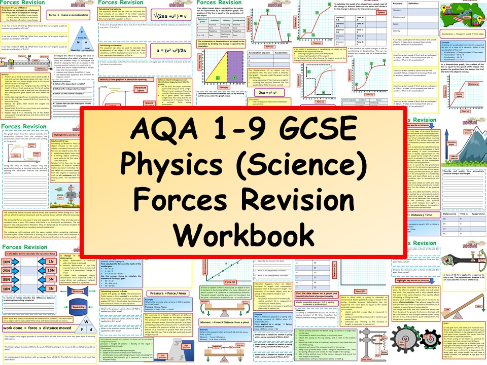 AQA 1-9 GCSE Physics (Science) Forces Revision Workbook