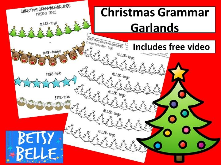 Christmas French Grammar Worksheet