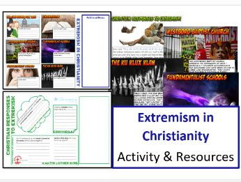 GCSE Religious Studies: Extremism in Christianity: Activity and Resources