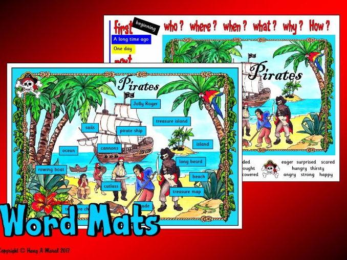 Pirates - Word Mats
