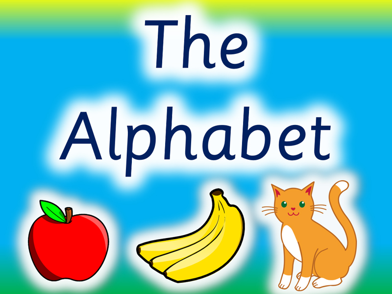 The Alphabet. Phonics Revision. Visually stunning Posters, Flashcards and PowerPoints.