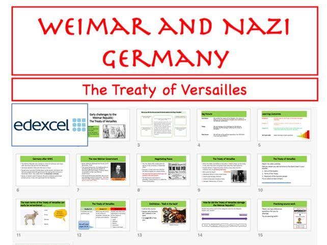 GCSE Treaty of Versailles