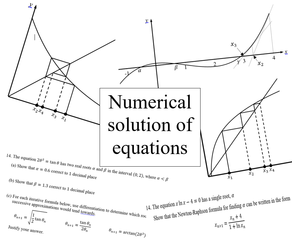Numerical solution of equations (new A level maths)