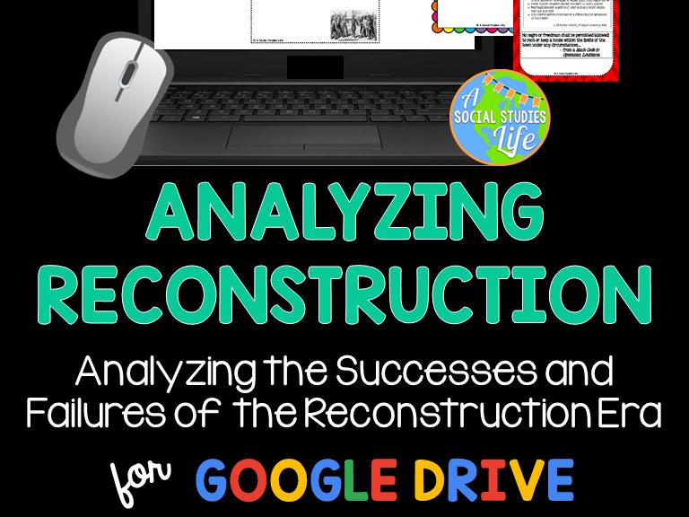 Reconstruction - Analyzing Reconstruction Museum Walk GOOGLE DRIVE