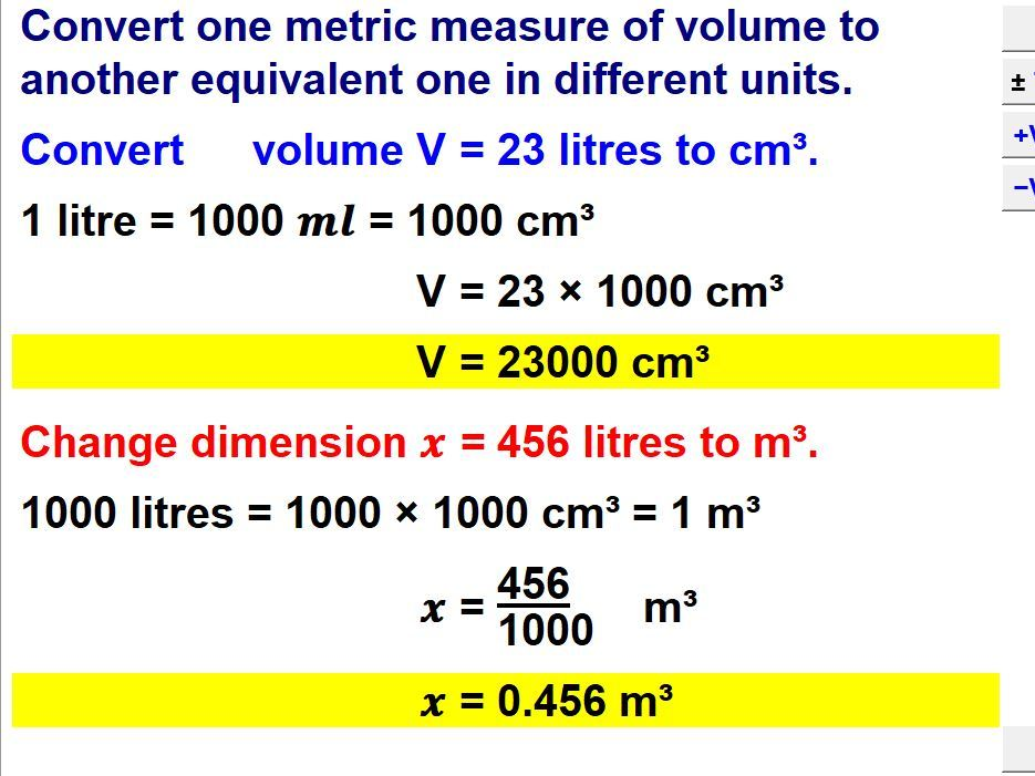 Convert Metric Measures To Another