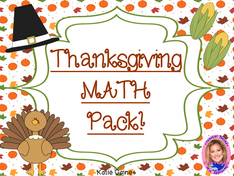 Thanksgiving MATH pack!