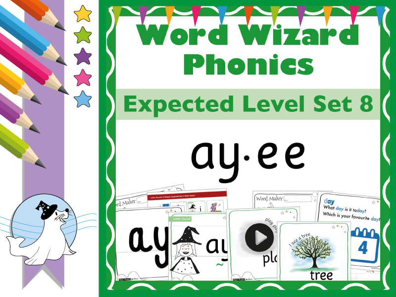 Word Wizard Phonics Expected Set 8: Vowels ay.ee