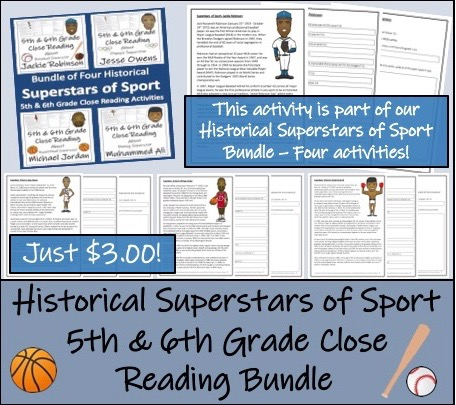 869afdfb46d7 Bundle of 12 Reading Comprehension Activities about Superstars of ...