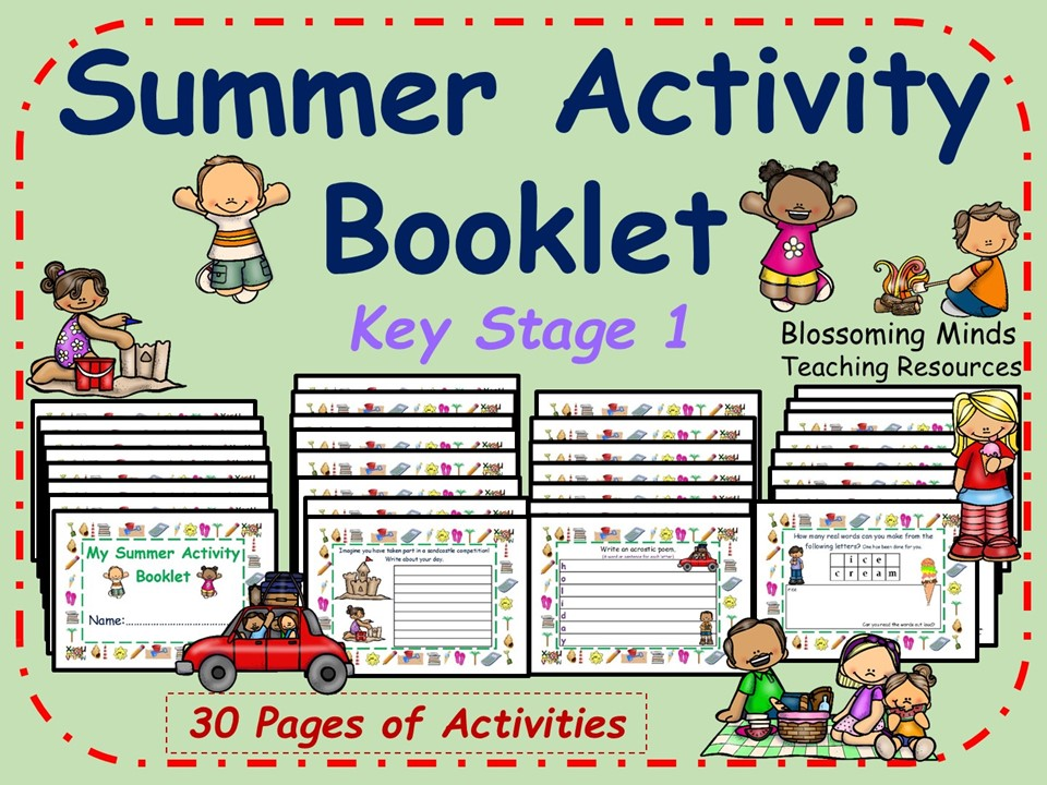 KS1 End of year Summer Activity Booklet - Home Learning