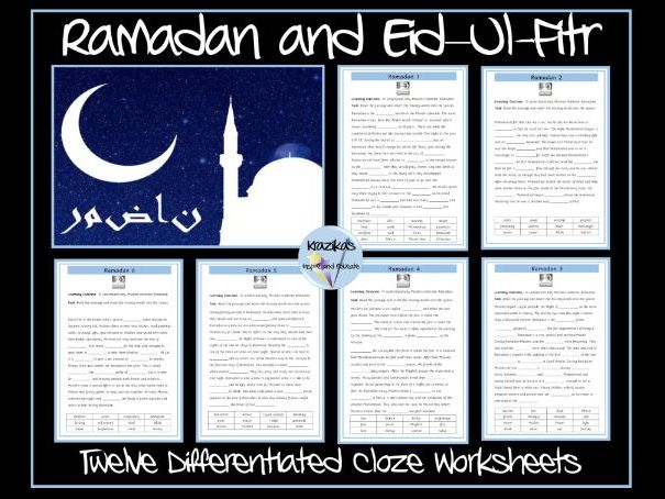 Ramadan and Eid–Ul-Fitr Worksheets